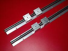20MM SBR20-2743mm LINEAR SLIDE GUIDE SHAFT 2 RAIL+4SBR20UU BEARING BLOCK CNC set