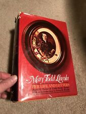 MARY TODD LINCOLN  Her Life and Letters  1973 Hard w D/J in Very Good condition!