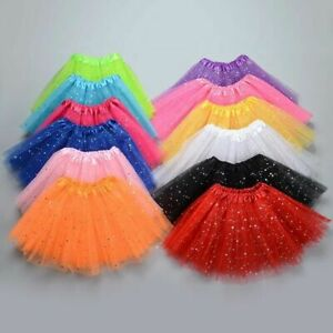 Girls Sequin Tulle Tutu Skirt Ballet Kids Princess Dressup Party Dance Wear US