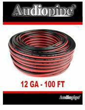 12 Ga Gauge 100' FT Speaker Wire Zip Cord Copper Clad Aluminum CCA Car Home
