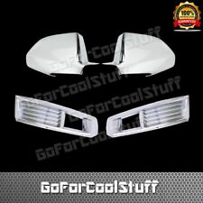 For 2008-2011 Cadillac CTS Full Mirror Chrome Cover+ Front Fog Lamp Cover