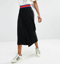 adidas Originals Women's Embellished Arts Wrap Front Long Stretch Maxi Skirt