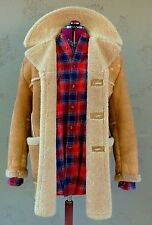 Vintage Shearling Sheepskin Leather Fur Coat Jacket (Size 42) Sawyer of Napa