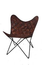 BROWN DIAMOND Chair Iron Stand With Leather Cover for Indoor Outdoor