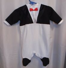 Small Steps penguin outfit 1 piece infant size small black white
