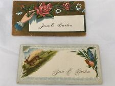 antique calling card Set Of 2