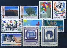 ONU Ginevra 1991 Mi. 198-207 Nuovo ** 100% Natura, cultura, bandiera