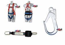 3P Auffangurt + Auffangsystem Höhensicherungsgerät 2,5m Fallschutz Falldämpfer