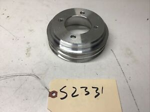 1964-1977 FORD BILLET ALUMINUM 302 351W 2 GROOVE 4 BOLT CRANKSHAFT PULLEY