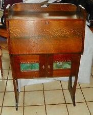 Solid Quartersawn Oak Arts & Crafts Dropfront Desk / Cabinet