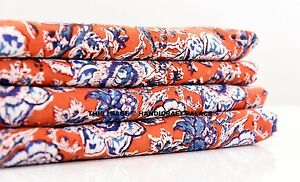 10 Yard Indian Hand Block Dabu Print Cotton Fabrics Floral Decor Dressmaking Art