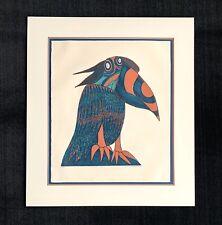 "Sergio Gonzales Tornero signed aquatint etching ""The Amazonian Grawk"" 1970 bird"