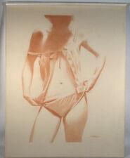 "Artwork Original drawing graphite pencil female figure ""Adjusting"""