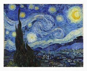 VAN GOGH Starry Night UNSTRECHED UNFRAMED CANVAS PRINT