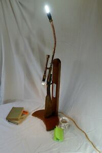 One Off Table Occasional lamp, Gun Stock and Steam Punk