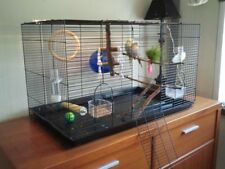 Metal Bird Cage For Small Birds Budgie/Parrot/Canary/Finch/Cockatiel Aviary UK
