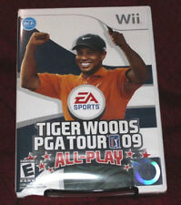 Tiger Woods PGA Tour 09 All-Play Nintendo Wii New Sealed Free Shipping