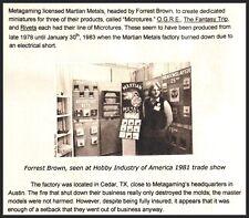 Forrest Brown World Of Fantasy HALFLINGS WZ26 25mm MARTIAN METALS Factory Sealed