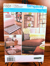 Sewing Pattern Simplicity 1931 Fleece Fringe Rugs & Pillows NEW