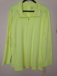 CHAMPION ACTIVE WEAR DUO DRY WOMEN'S NEON YELLOW TOP PLUS SIZE 2X NWT
