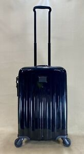 Preowned Tumi V4 International Carry-On Expandable Spinner Suitcase Black $595