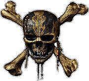 Pirates Skull 3 Vinyl Sticker Decal Cars Trucks Vans Walls Laptop