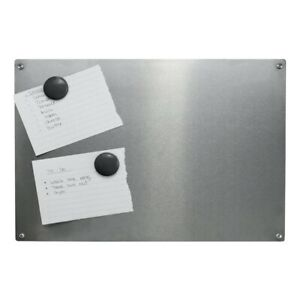 Magnetic Notice Board A3 Steel Memo Board 4 Included Magnets & Nails