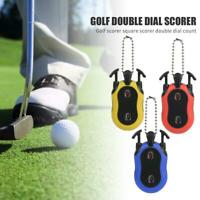 Dual Dial Golf Scorer Tally Counter Stroke Shot Putt Score Counter with Keychain