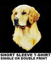 BEAUTIFUL GOLDEN RETRIEVER SHOW DOG ART PRINTED ON SHORT SLEEVE T-SHIRT WS704