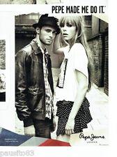 PUBLICITE ADVERTISING 1016  2012  Pepe jeans  London  pret à porter homme femme