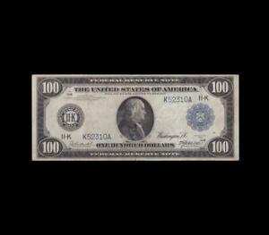 SUPER RARE 1914 $100 FEDERAL RESERVE NOTE DALLAS APPT. VERY FINE