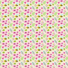 Printed Bow Fabric A4 Canvas Bees Flowers Hearts B1 Make glitter bows