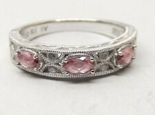 Tacori IV Sterling Silver Ring Sz 10 Cz Pink Cubic Zirconia Epiphany Signed
