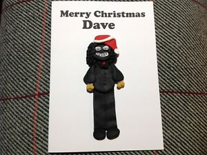 Papa Lazaro Christmas Card Handmade League Of Gentlemen Xmas Festive