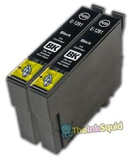 2 x Black T1281 XL Compatible Ink Cartridge for Epson Stylus (Non-oem)