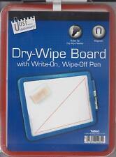 A4 Magnetic Backed Dry Wipe Board With Write On Wipe Of Pen Memo Note Board