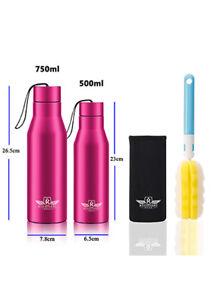 Trinkflasche Isolierflasche Wasserflasche Thermosflasche WMC01Rot 500ML