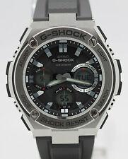 New Casio G-Shock G-Steel Tough Solar Black Resin Strap Men's Watch GSTS110-1A