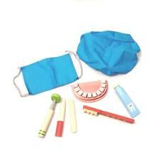 Children's wooden dentist set, toy Oral hygiene set