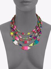 Kate Spade Southwest Pueblo Tiles Necklace Gold multi color strand $248