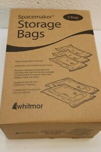 New Whitmor Spacemaker Storage Bags Combo Set of 5 Bags 3 Large - 2 Jumbo