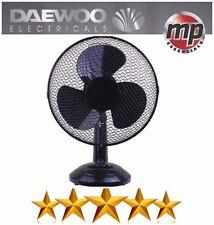 """Daewoo Noir 12"""" Vitesse 3 Électrique Oscillant plan de travail cuisine bureau table Air Ventilateur De Refroidissement"""