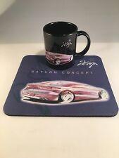 GM Saturn Concept Car Coffee Mug Tea Cup Pink Automobile w/ Mouse Pad