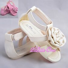 Rosette Sandals Shoes Toddler US Size 6.5-9 Wedding Flower Girl Pageant GS008