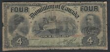 1902 DOMINION OF CANADA 4 DOLLARS BANK NOTE
