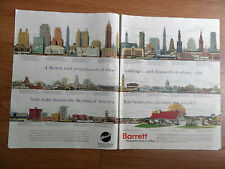 1952 Barrett Allied Chemical Roof Ad 99 Famous Skylines Buildings of America