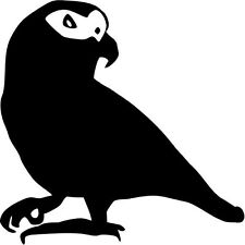 """AFRICAN GREY PARROT WILDLIFE Vinyl Decal Sticker-6"""" Wide White Color"""