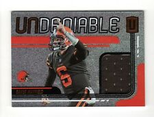 BAKER MAYFIELD NFL 2019 PANINI UNPARALLELED UNDENIABLE JERSEYS (CLEVELAND BROWNS
