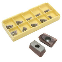 CO_ 10Pcs Tungsten Steel APKT11T308-PM Carbide Milling Inserts Cutting Tool Nove