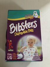 Bibsters Large Feeding Disposable Bibs Seasame Street 32 Per Box Easy Clean Up